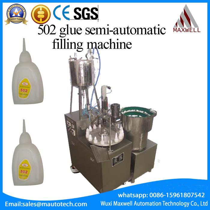 liquid glue filling and capping machine