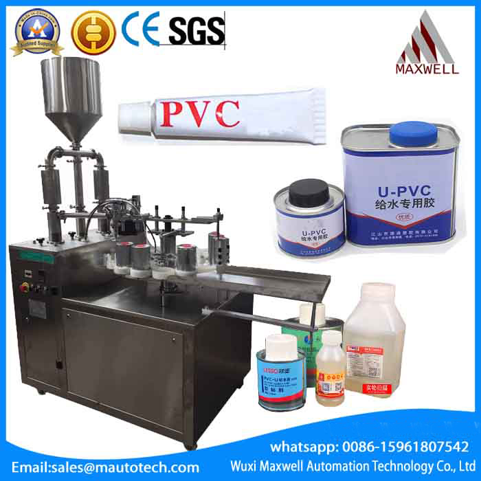 PVC glue filling and capping machine