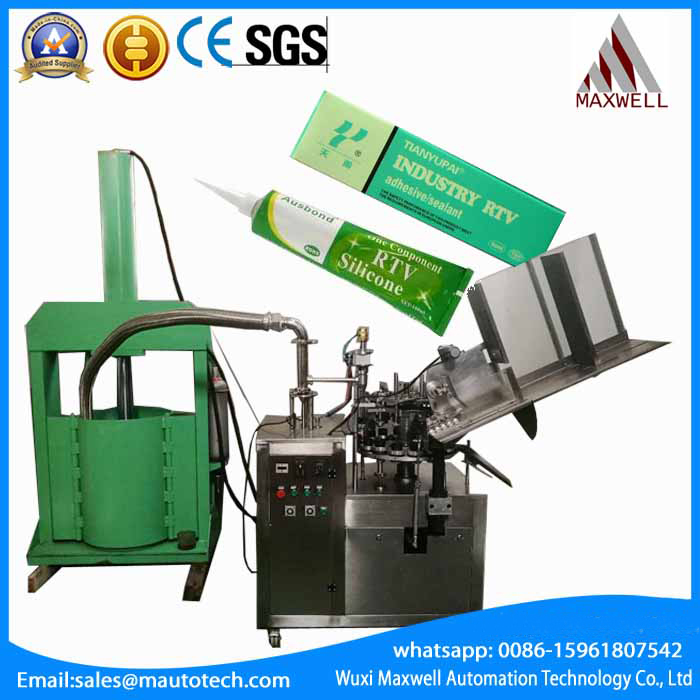 metal tube silicone sealant filling and folding tail machine